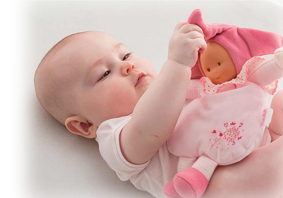 Soft baby doll for early learning