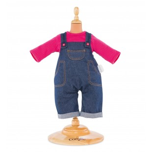 Denim Overalls Set for 17-inch baby doll