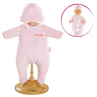 Pink Pajamas for 12-inch baby doll