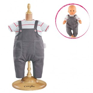 Smock & Denim Overall for 12-inch baby doll