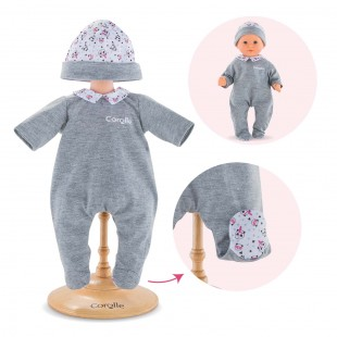 Pajamas Panda Party for 12-inch baby doll