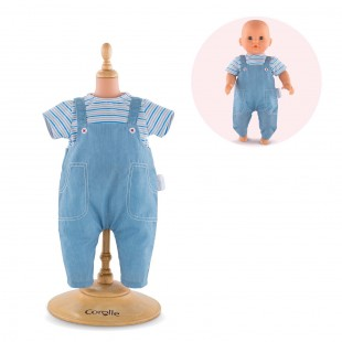 Striped T-Shirt and Overall for 12-inch baby doll