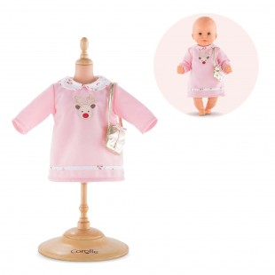 Happy Reindeer Dress for 12-inch baby doll