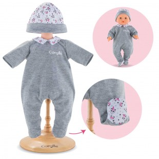 Pajamas Panda Party for 14-inch baby doll