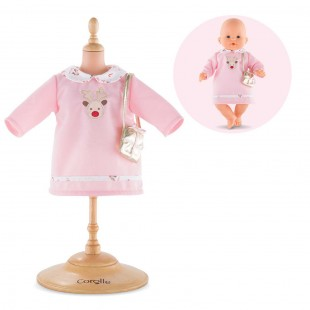 Happy Reindeer Dress for 14-inch baby doll