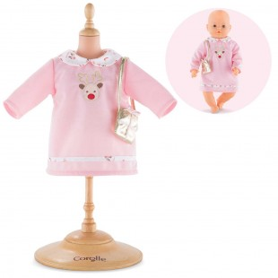 Happy Reindeer Dress for 17-inch baby doll
