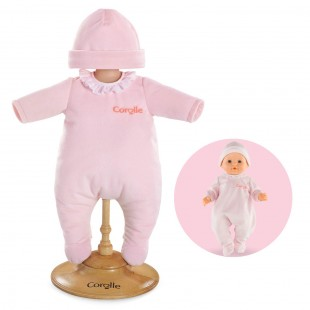 Pink Pajamas for 14-inch baby doll