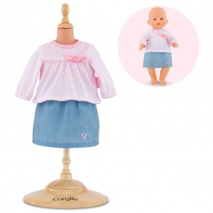 top & skirt for 14-inch baby doll