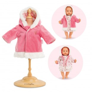 Coat - enchanted winter for 14-inch baby doll