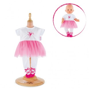 Ballerina Fucshia Suit  for 14-inch baby doll